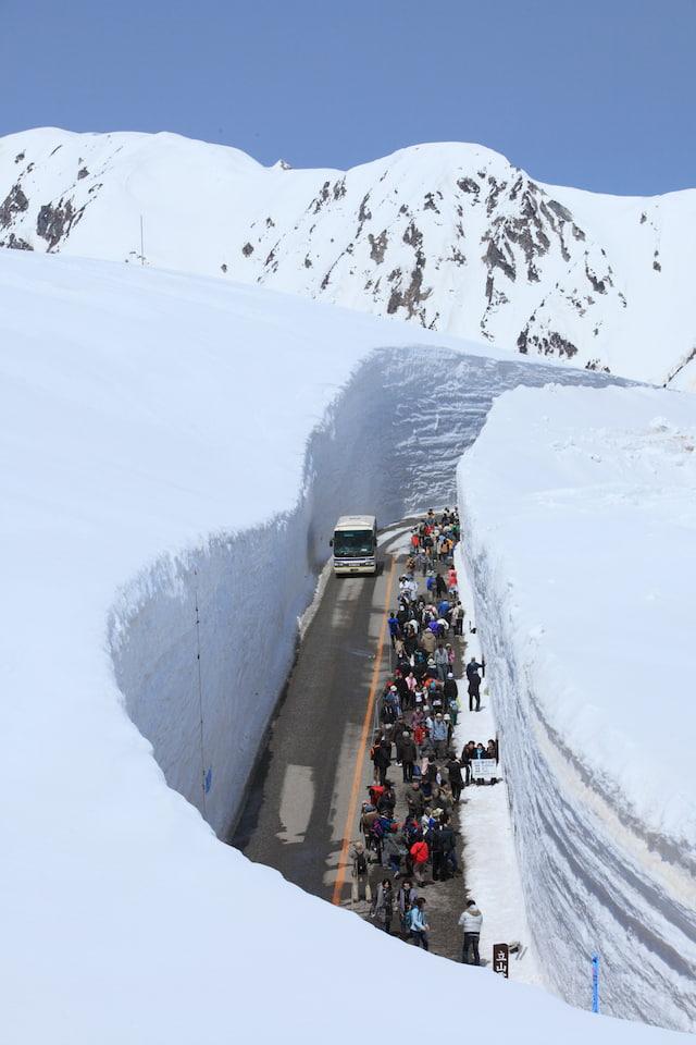 Tateyama la ruta de la nieve alpina
